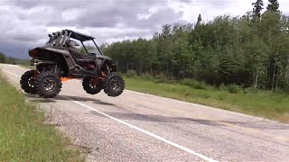 Testing S3 lift on a razor 1000 wide open style,Skeg bashing a monster lifted outlander