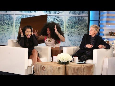 Ellen Scares Nicki Minaj