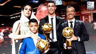 Cristiano Ronaldo Wins Player Of The Year At The Globe Soccer Awards