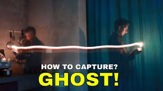 Ghost On Camera With Light Trail Effect With Long Exposure | Creative Photos & Paranormal Effects
