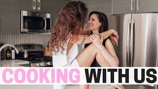 COOKING WITH US  + Q&A | lesbian married couple | Angelis & Nina