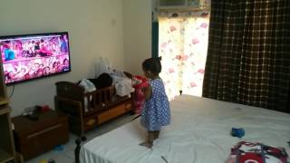 My daughter dance for block buster saarinodu song part 2