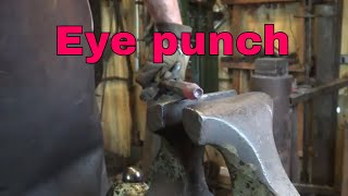 Forging an eye punch - blackmith tools
