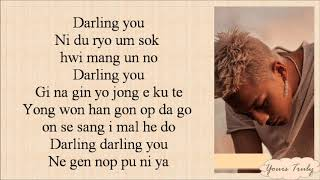TAEYANG - DARLING [EASY LYRICS]