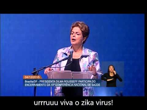 Dilma confunde mosquito com vírus
