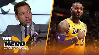 Chris Broussard on the Warriors' recent struggles, LeBron's 51 point night in Miami | THE HERD
