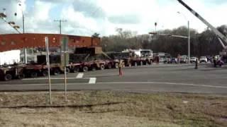 Mammoet Moving a 1.7 million pound Gas Turbine Generator in Texas 1-19-2010