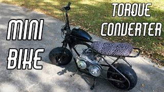 Mini Bike Torque Converter Swap