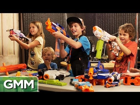NERF Firing Squad ft. Our Kids
