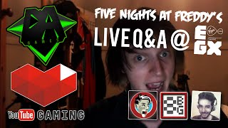 FIVE NIGHTS AT FREDDY'S Q&A LIVE @ EGX! (Featuring Dawko, Razzbowski & 8-Bit Gaming!) - DAGames