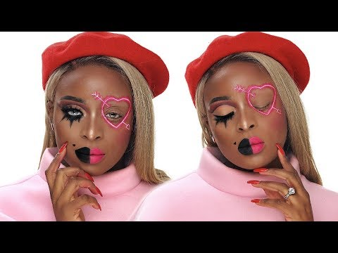 ANTI VALENTINES DAY & VALENTINES DAY CREATIVE MAKEUP TUTORIAL
