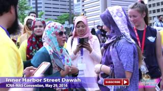 Watch Largest Street Dawah - 500 Muslims with Hamza Tzortzis @ ICNA Conv, Baltimore, MD