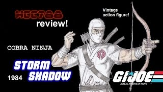 HCC788 - 1984 STORM SHADOW Cobra Ninja - G. I. Joe toy review! HD S01E40