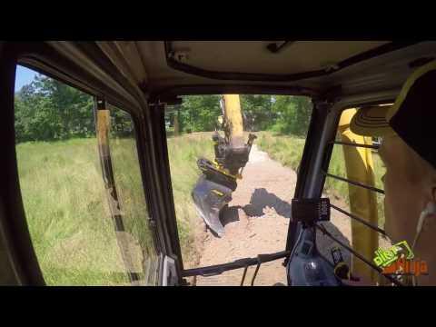 John Deere 200lc Engcon Tiltrotator Starting New House Lot