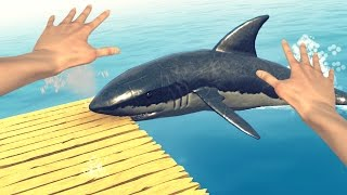 THIS SHARK IS EATING ME! (Raft)