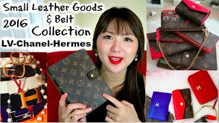 2016 Small Leather Goods & Belt Collection (LV, Chanel and Hermes)