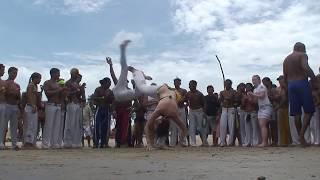 Roda de Capoeira na Praia - Boa Vontade / RN - Mestre Canelão
