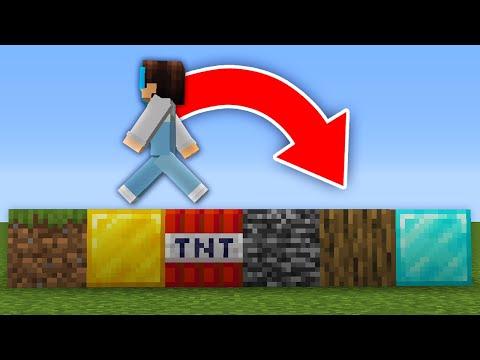 Minecraft But Random Blocks Spawn When You Walk