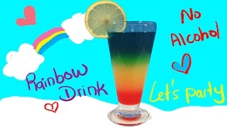 Rainbow Drink-Non-alcohol-Cocktail-For KIds-Awesome