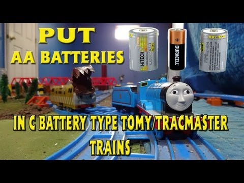 How to use AA Batteries on Any Tomy Trackmaster Train