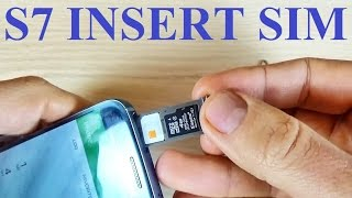 Samsung Galaxy S7, S7 edge - How to Insert SIM Card and Memory Card