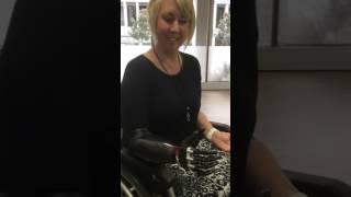 Quad amputee Korrin trials bebionic small hand