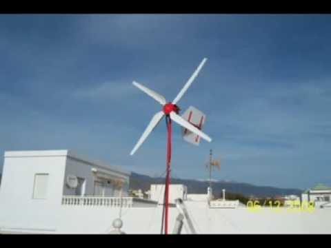 ASI SE HACE UN aerogenerador casero aerogenerador v 5