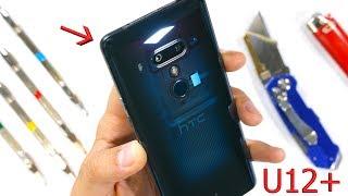 HTC U12 PLUS Durability Test! A Clear Phone w/ No Buttons...