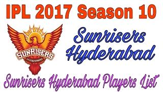 IPL 2017 Season 10 Sunrisers hyderabad team SRH HYD Squad 2017 Retained players