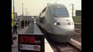 مدهش قطار فرنسى بسرعة 574 كم فى الساعه