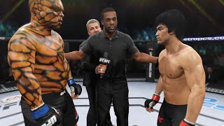 Bruce Lee vs. Thing (EA Sports UFC 2) - CPU vs. CPU 🐉