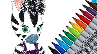 Zou Zebra 2016 New Coloring Page Fun HD Video