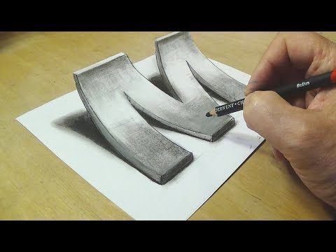 Xxx Mp4 How To Draw 3D Letter M Drawing With Pencil By Vamos 3gp Sex
