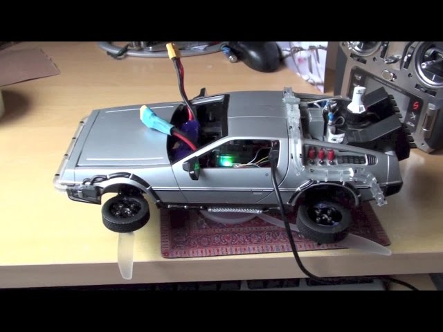 FPV drone racing - RC flying DeLorean prototype Back to the future for Universal Studios show??