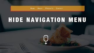 How To Hide Navigation Menu on Scroll Using HTML, CSS And JavaScript