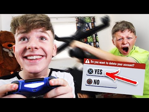 Deleting My Little Brother s FORTNITE Account PRANK