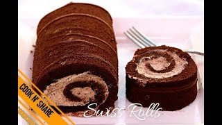 Chocolate Swiss Rolls Simple and Easy