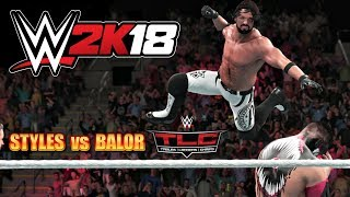 WWE 2K18 Gameplay   AJ Styles vs Demon Finn Balor at Tables Ladders and Chairs Pay Per View