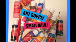 Art Supplies SMALL HAUL! // Michael's | Craftabulous
