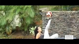Sexy girls freestyle football skills