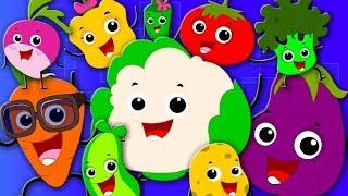 Ten Little Vegetables | Learn Vegetables | Nursery Rhymes And Kids Songs For Children