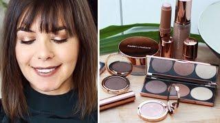 NUDE BY NATURE MAKE UP one brand Tutorial / deutsch rosegold metallic eyeshadow