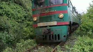 Грузовой поезд на Абхазской ж/д
