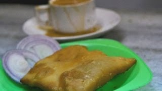 Hyderabadi Irani Chai and Lukmi at Iqbal Café - Classic Bagara Khana