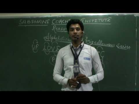 REASONING DEMO CLASSES AT SABDHANI COACHING INSTITUTE, BHOPAL