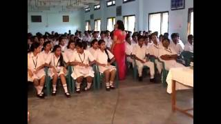 A motivational and inspirational lecture for the students by a school madam