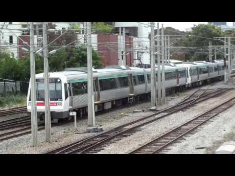 Trains at Claisebrook - Transperth
