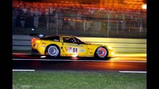Corvette Racing C6.R Mulsanne Straight 190+ MPH 2005 24 Hours of Le Mans