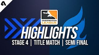 Dallas Fuel vs New York Excelsior | Overwatch League Highlights OWL Stage 4 Semi Finals