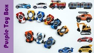 9x Transformers Tobot Athlon Season3, 2, 1 And Giga Seven Combination Robot